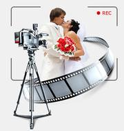 Видеосъемка профессиональная свадеб,  выпускных, корпоративов.