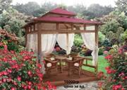 Беседки деревянные,  альтанки,  садовые павильоны под заказ.
