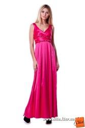 оргинальное молодежное коктейльное длинное модное платье