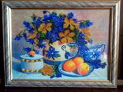 Картина-вышивка чешским бисером.Натюрморт.