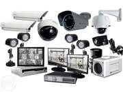 Установка видеонаблюдения,  пожарной и охранной сигнализации