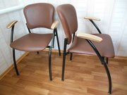 Новые стулья натур. кожа замш