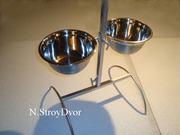 Подставка с мисками на штативе для кормления собак и др.Ваших любимцев
